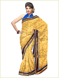 Party Bright Yellow Sarees