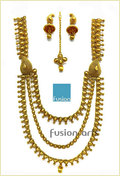 High Gold Polish Long Imitation Necklace Jewellery