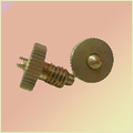 Brass Knob With Grub Screw Assembly