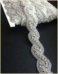 Bridal Dress Embroidered Rhinestones Appliques