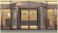 Copper Decoration Automatic Revolving Door