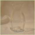 Glass Clear Cut Flower Vase