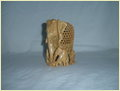 Wooden Lattice Elephant With Baby