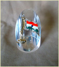 Crystal Paper Weight With Flag