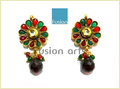 Fancy Beads Studded Tops Earring