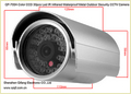 QF-705A Color CCD Infrared Waterproof Outdoor Security CCTV Camera