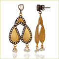 Pearl & Cubic Zirconia Women'S Dangle Earrings