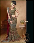 Red & Green Lehenga Choli