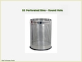 Perforated Bin (Stainless Steel) - Round Hole