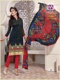 Designer Chanderi Cotton Embrodiery Suit