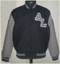 Varsity Jacket With Knit Collar