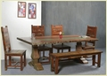 Antique Dining Table &  Chair Set
