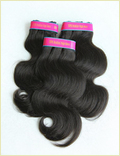 Machine Wefted Human Hair Extensions