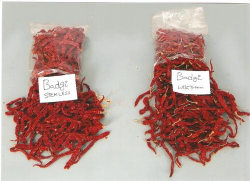 Byadgi Dry Red Chilli (Fully Wrinkled) Stemless