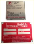 Metal Name Plates