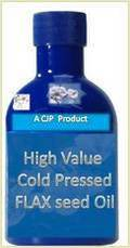 High Value Cold Pressed Flax Seed Oil