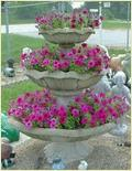 Three-Tier Flower Fountain
