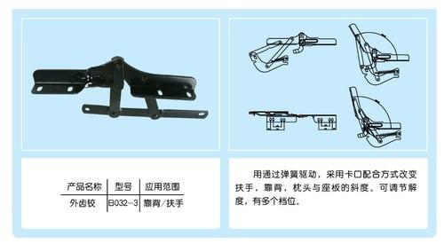 Adjustable Metal Sofa Bed Bracket Hinge B032-3