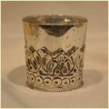 Glass Silve Candle Votive Holder