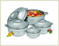 Stainless Steel Insulated Silver Coating Hot Pot