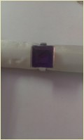 African Amethyst Stone Silver Ring