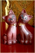 Wooden Cat Thailand Handicraft