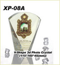 V-Shaped 3d Photo Crystal