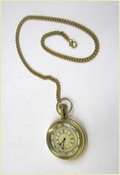 Brass Pocket Watch With Chain