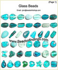 Glass Beads Aqua Color