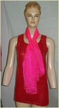 Ladies Neon Printed Scarves