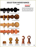 Solid Teak Wood Curtain Rods