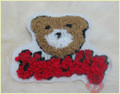 Wool Fabric Teddy Bear Cloth Paste SK-4