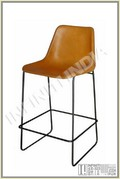Iron Leather Bar Chair