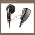 Earpiece With Small Lapel Ptt For Walkie Talkie Accessories