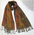 Cotton Embroidered Shawls With Fringes