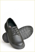 Black Leather Upper Safety Shoes