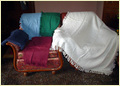 Single Color Sofa Throw In Pure Cottons