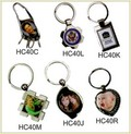 Metal Sublimation Key Ring