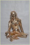 Brass Parvati Sculpture