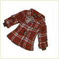 Little Girl Grid Worsted Overcoat