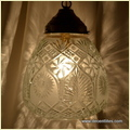 Glass Clear Cut Hanging Lamp