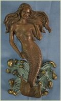 Mermaid Brass Metal Door Knocker