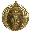 Handmade Lord Hanuman Face Brass Wall Hanging For Home Decoration
