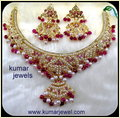 Kundan Beaded Jhumkis