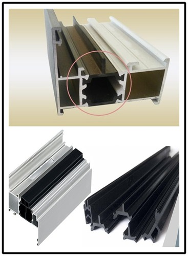 Thermal Break Design Extruded Reinforced Pvc Profiles