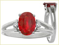 Ruby Stone Silver Ring