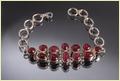 Silver Bracelat With Ruby Stone