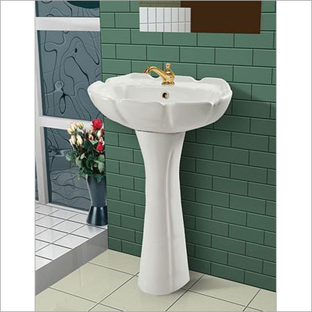 Pedestal wash basin in old ghuntu road morbi sonet ceramic for Bathroom wash basin designs india