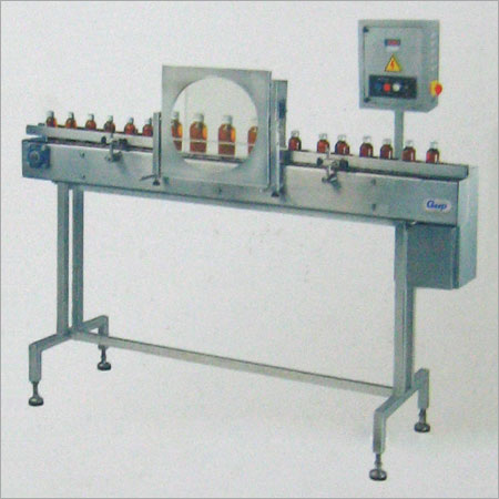 BOTTLE INSPECTION MACHINE WITH MAGNIFY DOME