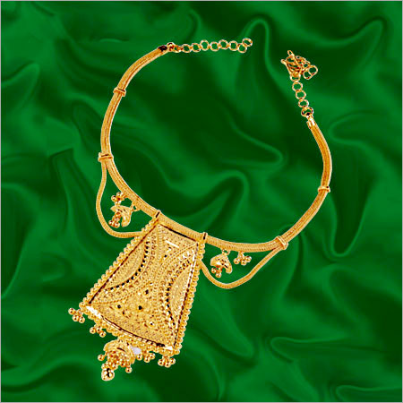 Gold Contemporary Necklace In Chowrangi Road Kolkata West Bengal